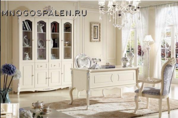 Виктория домашний кабинет арт.8801 купить в салоне-студии мебели Барселона mnogospalen.ru много спален мебель Италии классические современные