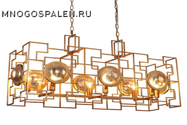 Люстра Crystal lux Cuento SP8 L900 GOLD купить в салоне-студии мебели Барселона mnogospalen.ru много спален мебель Италии классические современные