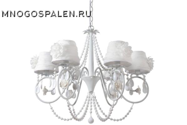 Люстра Crystal lux Elena WHITE SP6 купить в салоне-студии мебели Барселона mnogospalen.ru много спален мебель Италии классические современные