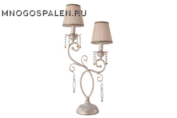 Настольная лампа Crystal Lux Gloria Gold LG2 купить в салоне-студии мебели Барселона mnogospalen.ru много спален мебель Италии классические современные