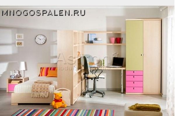 Детская мебель  T102 Астрон купить в салоне-студии мебели Барселона mnogospalen.ru много спален мебель Италии классические современные
