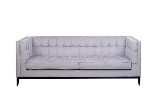 Диван Palermo трехместный pаскладной серый PALERMO1K-СЕР-Vel49 купить в салоне-студии мебели Барселона mnogospalen.ru много спален мебель Италии классические современные