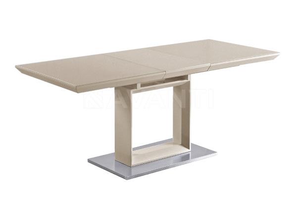 Стол обеденный раскладной ROBIN  (лак ваниль со стеклом) купить в салоне-студии мебели Барселона mnogospalen.ru много спален мебель Италии классические современные